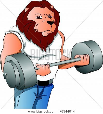 Half-man Half-lion Bodybuilder, Illustration
