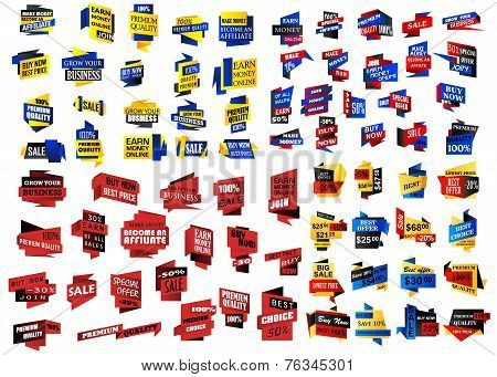 Huge set of retail, store and sale banners