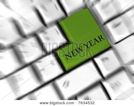 new year - enter sign