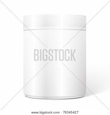 White Cylindrical Box