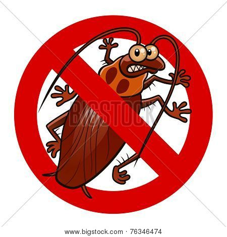 No Cockroaches Sign