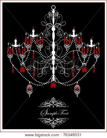 Vintage Invitation Card With Ornate Elegant Abstract Design