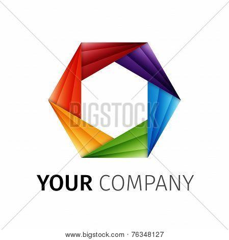 Abstract Rainbow Aperture Vector Logo