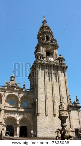 Tower Of Cathedral - Santiago De Compostela, Spain