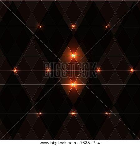 Orange Wink Vintage Pattern Background