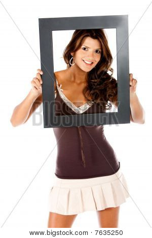Woman With A Frame