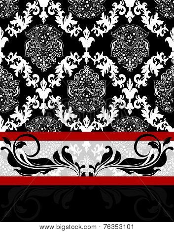 Vintage Background With Ornate Elegant Abstract Floral Design
