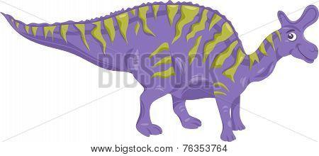 Lambeosaurus Dinosaur Cartoon Illustration