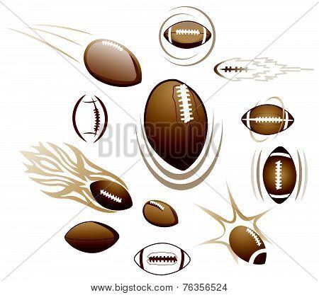 Footballs, Illustration