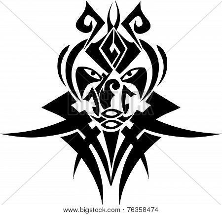 Tribal Tattoo Design, Vintage Engraving.