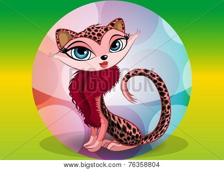 Lovely Leopard, Illustration