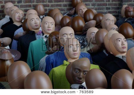Individualidade. Um rosto na multidão.