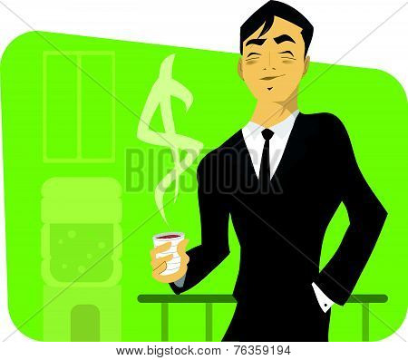 Illustration Of A Successful Businessman