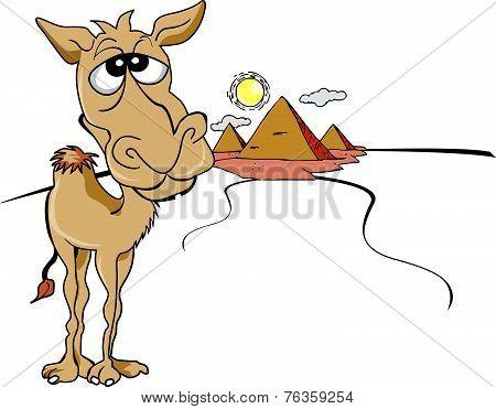 Funny Brown Camel, Illustration