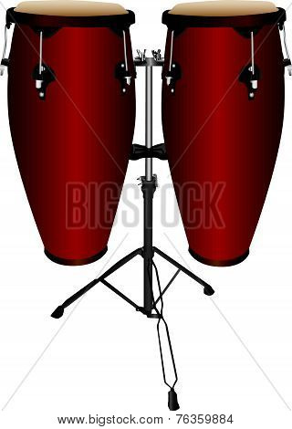 Pair Of Conga Drums