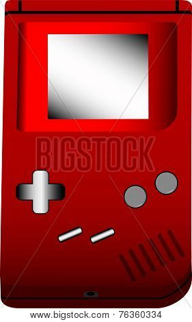 Handheld Gaming Device Illustration