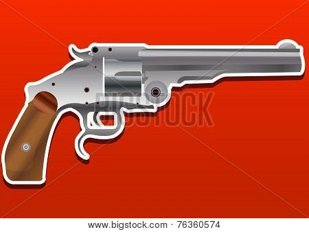Gun, Handgun, Pistol Or Revolver, Illustration