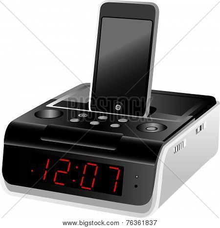 Docking Station Alarm Clock