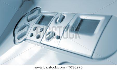 Control Panel Of Gas Boiler