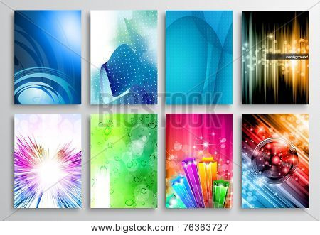 Set of Abstract modern backgrunds for business cards, brochure design, flyer design, cover layouts , magazine page backgrounds and so on.