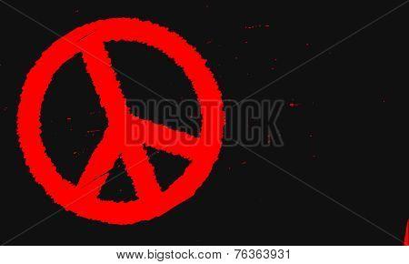 Ban The Bomb Blackboard