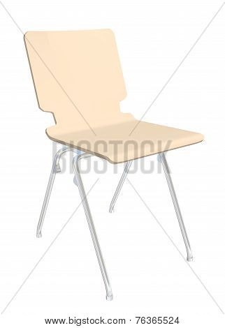 Stackable Plastic Chair, 3D Illustration