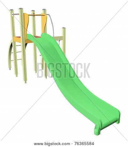 Kiddie Slide, 3D Illustration