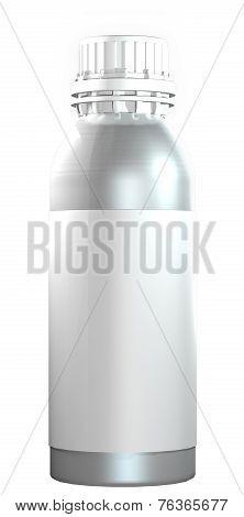 Aluminum or steel bottle with plastic twist cap