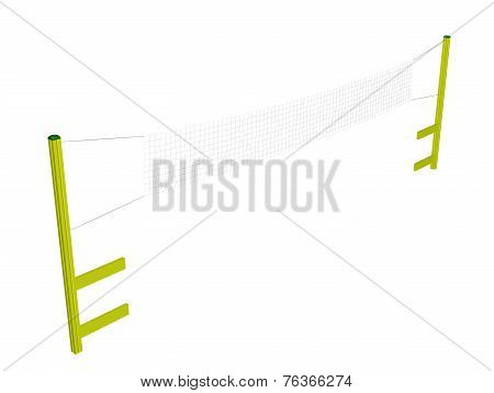 Badminton And Volleyball Net, 3D Illustration