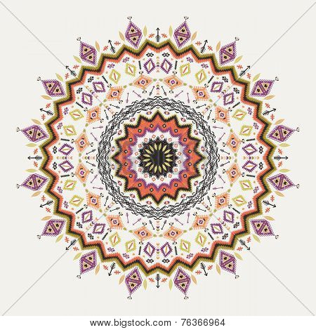 Ethnic decorative vector ornament on native ethnic style
