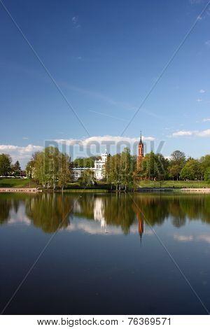 Lake Druskonis in Druskininkai, Lithuania