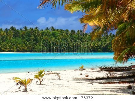 Tropical Beach-Szene