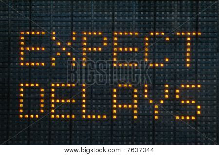 Expect Delays Traffic Congestion Sign