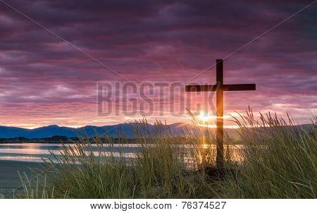 Salvation Dawn Sun Cross