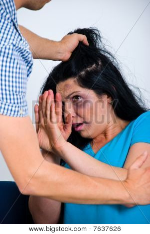Terrfied Abused Woman