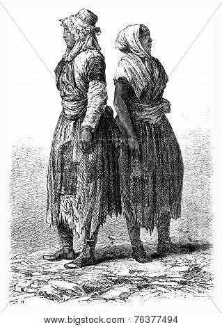 Poverty, Merthyr Tydfil, Vintage Engraving.