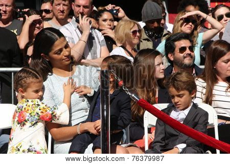 LOS ANGELES - NOV 17:  Camila Alves McConaughey, Vida, Levi, Livingston at the Matthew's  Hollywood WOF Star Ceremony onHollywood Blvd on November 17, 2014 in Los Angeles, CA