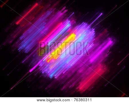 Colorful Lines In Motion