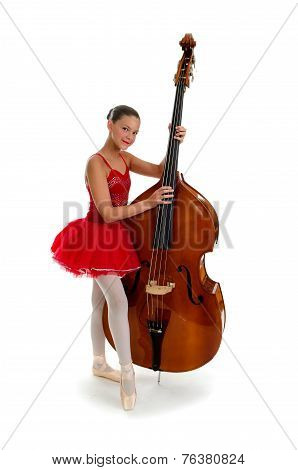 Ballerina Teen With Double Standup Bass