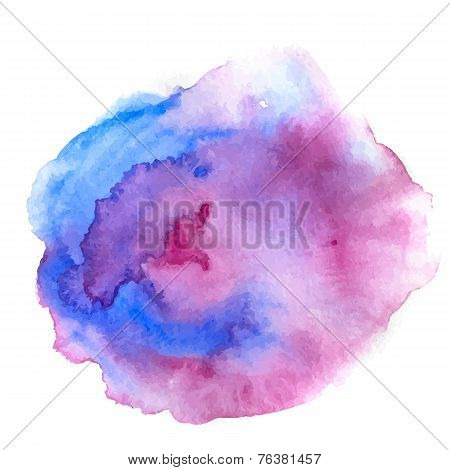 Watercolor vector spot