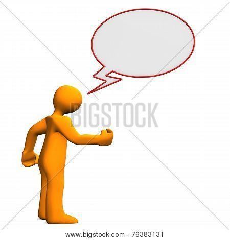 Manikin Speech Bubble Angry