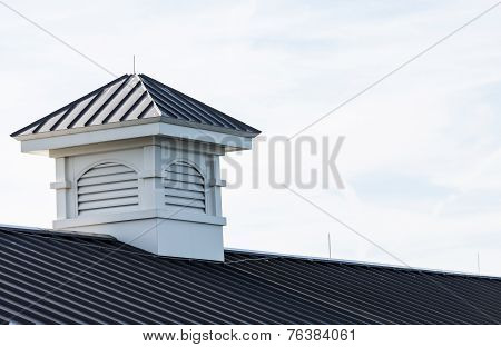 Cupola On Metal Roof Of Pier