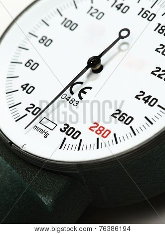Scale Of Pressure-gauge. Pointer At Zero