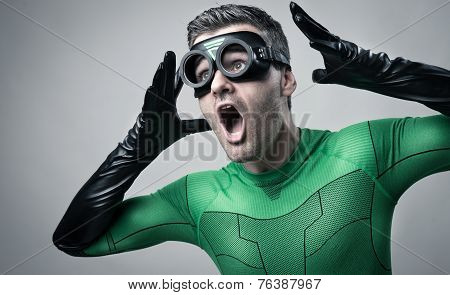 Cool Superhero Shouting Out Loud