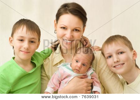 Mother With Three Children