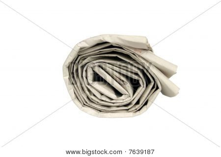 Rolled Newspaper Isolated