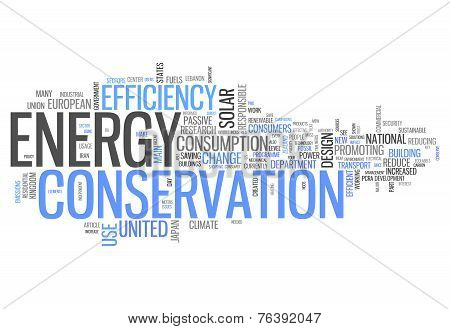 Word Cloud Energy Conservation