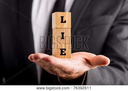 Wooden Alphabet Blocks Reading Lie