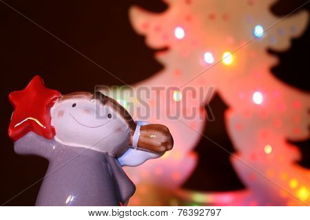 Christmas angel with a star