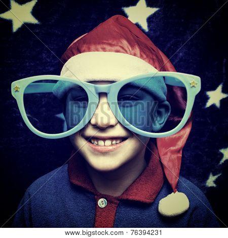 Kid In Santa Hat
